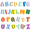 Vector clipart: multicolor letters