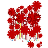 Vector clipart: Floral bar codes