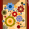 Vector clipart: Background with gears