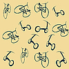 Vector clipart: Bike wallpaper