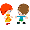 Vector clipart: Boy and girl