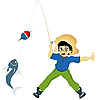 Vector clipart: Boy fishing