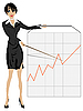 Vector clipart: Business woman presenting