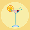 Vector clipart: Cocktail illustration