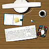 Vector clipart: working desk