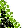Векторный клипарт: уголок с листвой