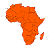 Vector clipart: Africa map
