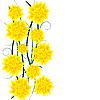 Векторный клипарт: желтый цветочный фон