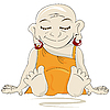 Vector clipart: Little Buddha