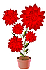 Vector clipart: Potted flower