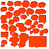 Vector clipart: speech bubles