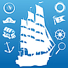 Vector clipart: Sailing symbols