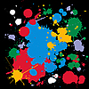 Vector clipart: colorful ink splats