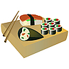 Vector clipart: Sushi