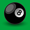 Vector clipart: 8 ball
