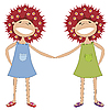 ID 3006202 | Sisters holding hands | Stock Vector Graphics | CLIPARTO
