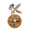 Vector clipart: Viking weapons