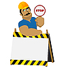 Vector clipart: Construction worker