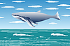 Vector clipart: Flying whale