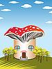 Vector clipart: mushroom house