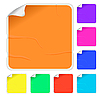 Vector clipart: Empty color stickers