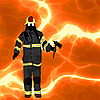 Vector clipart: Firefighter background