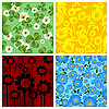 Four floral background | Stock Vector Graphics