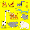 Vector clipart: African wild animals