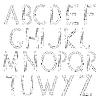 Vector clipart: Musical alphabet