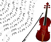 Vector clipart: Violin background