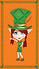 Vector clipart: leprechaun card