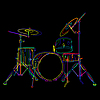 Vector clipart: Drums