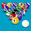 Vector clipart: Billiard Ball Set
