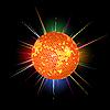 Vector clipart: Disco ball background