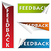 Vector clipart: Feedback stickers
