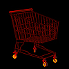 Vector clipart: Red shopping trolley