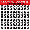 Vector clipart: Airport pictograms set
