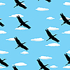 Vector clipart: Flying birds pattern