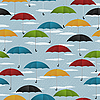 Vector clipart: Seamless umbrella pattern