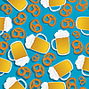 Vector clipart: Beer and pretzels pattern