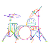 Vector clipart: Drums kit