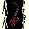 Vector clipart: Jazz card