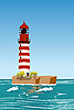 Vector clipart: Red lighthouse
