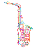 Vector clipart: Stylized saxophone