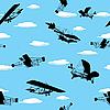 Vector clipart: Vintage planes wallpaper