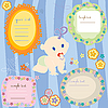 Vector clipart: Baby cards