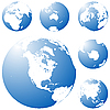 Vector clipart: Blue planet