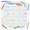 Vector clipart: 2011 calendar