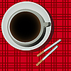 Vector clipart: Coffee and cigarettes