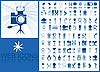 Blue icons | Stock Vector Graphics